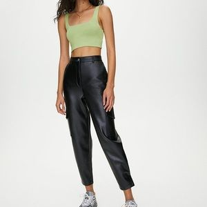 Wilfred faux leather modern cargo pant